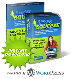 WordPress Lead Squeeze Theme -Squeeze Page WordPress Theme