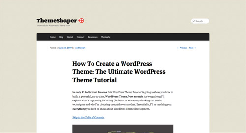WordPress Blogging Tutorial - Build WordPress Theme From Scratch